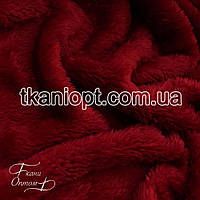 Ткань Махра (велсофт) бордовый