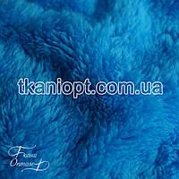 Ткань Махра (велсофт) голубой