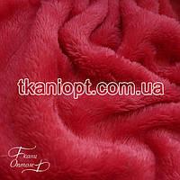 Ткань Махра (велсофт) коралл-розовый