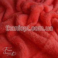 Ткань Махра (велсофт) коралловый