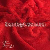 Ткань Махра (велсофт) красный