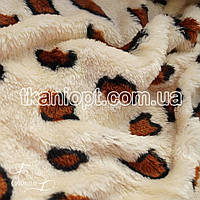 Ткань Махра (велсофт) леопард