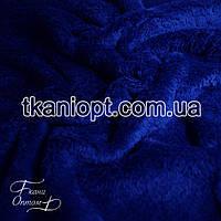 Ткань Махра (велсофт) электро-синий