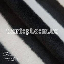 Ткань Мех звери (зебра)