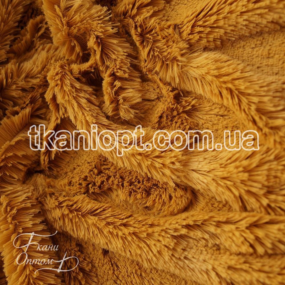 Ткань Мех травка 18 мм (бронза)