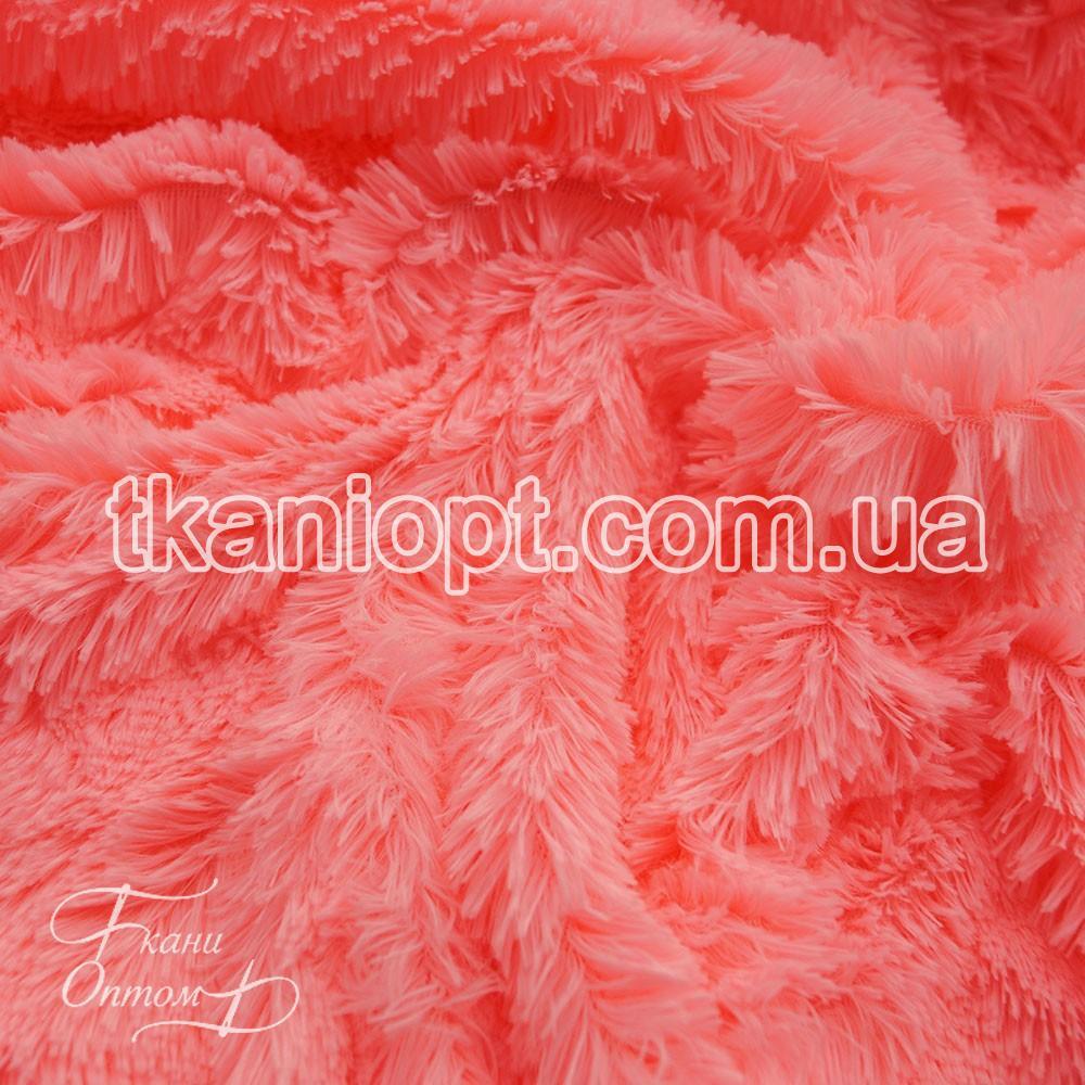 Ткань Мех травка 18 мм (розовый)