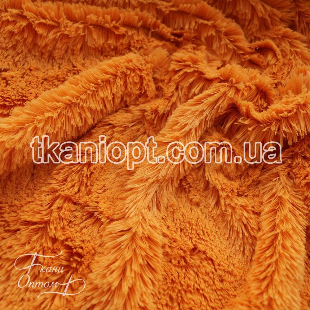 Ткань Мех травка 18 мм (рыжий)