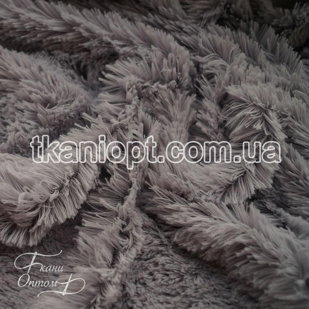 Ткань Мех травка 18 мм (серый)