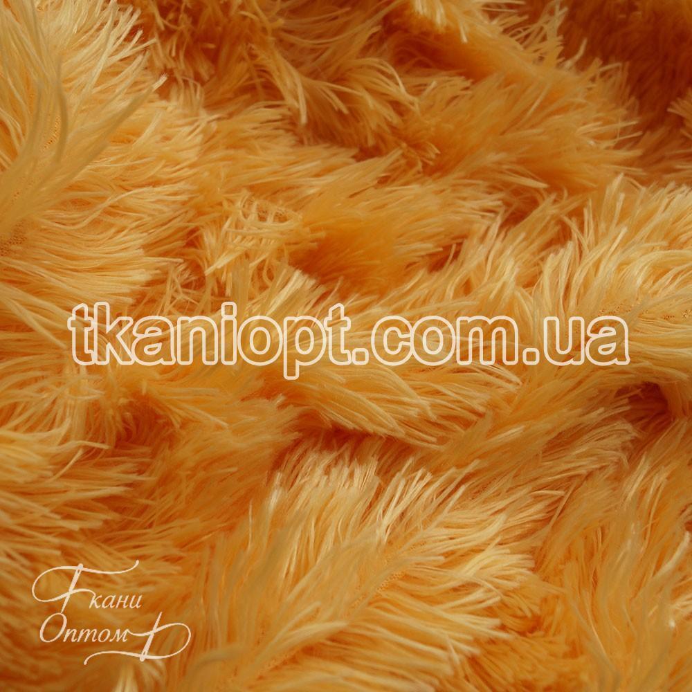 Ткань Мех травка 33 мм (светло-медовый)