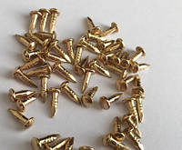 Гвозди 2Х8мм золото