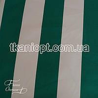 Ткань Оксфорд 600D PU бело-зеленая полоска на молоке (210 GSM), фото 1