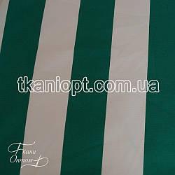 Ткань Оксфорд 600d pu бело-зеленая полоска на молоке (210 gsm)