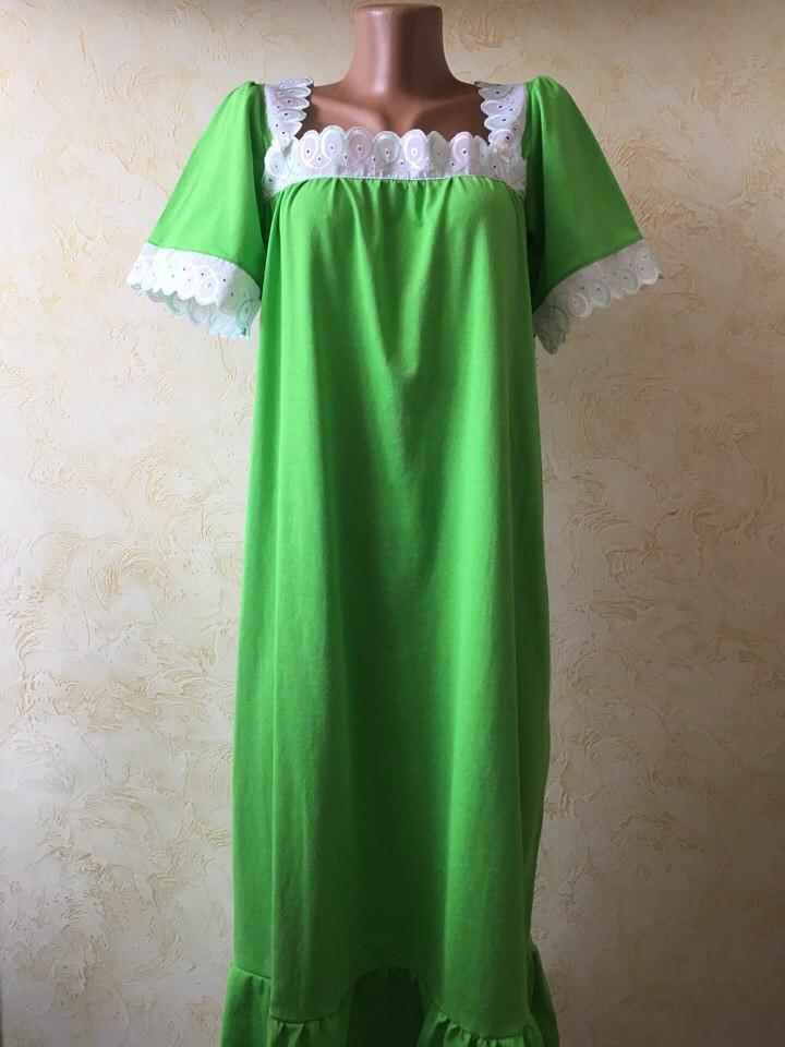 c4a16534619 Ночная рубашка женская длинная Мечта с кружевом