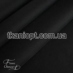 Ткань Оксфорд 600d pu черный на молоке (210 gsm)