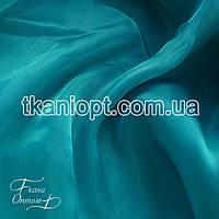Ткань Органза (зеленая бирюза)