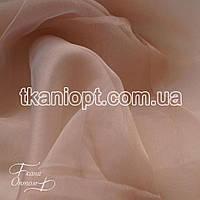 Ткань Органза для штор (пудра)