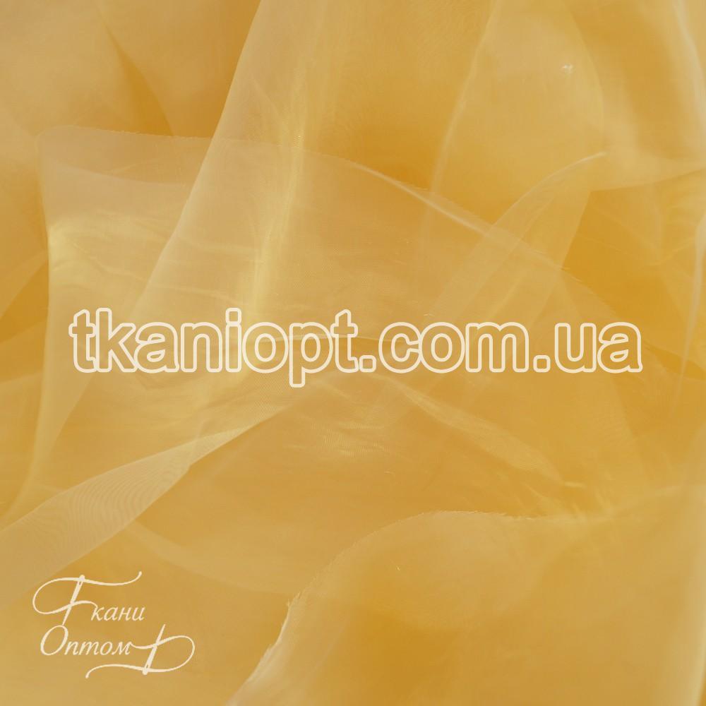 Ткань Органза шиммер (светло-золотой)