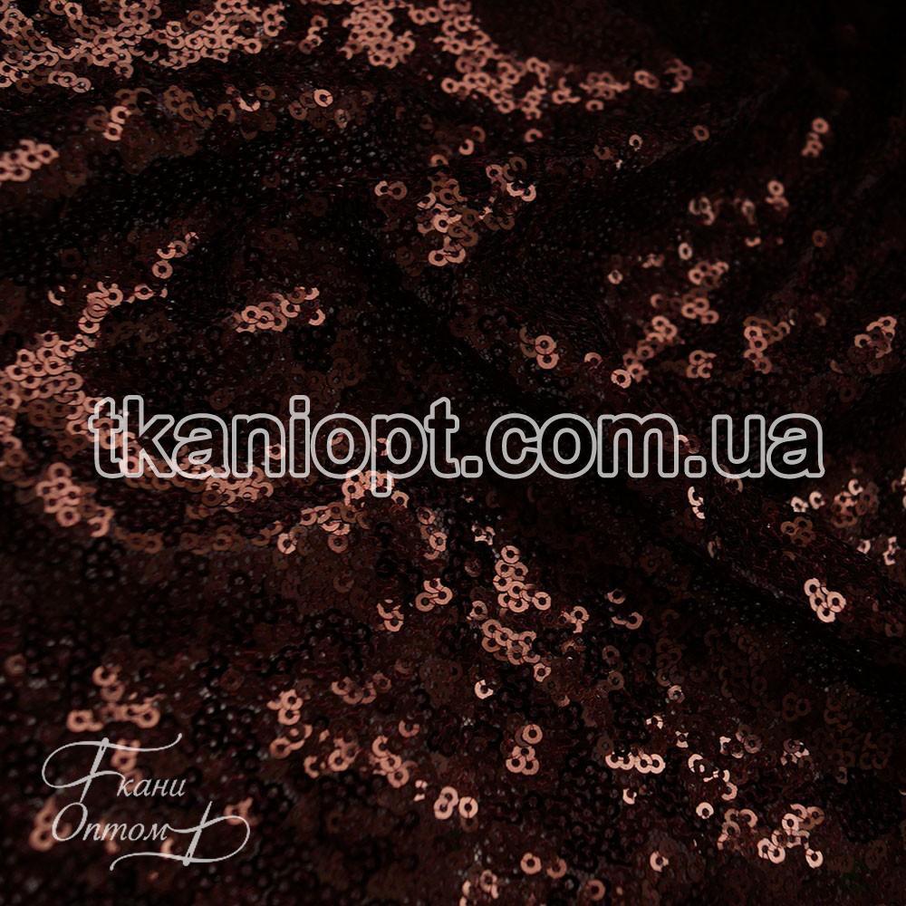 Ткань Пайеточная ткань густая (марсала)
