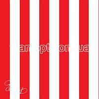 Ткань Палаточная ткань оксфорд 210D бело-красный (105 gsm)
