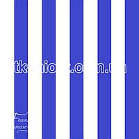 Ткань Палаточная ткань оксфорд 210D бело-синий (105 gsm)