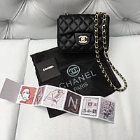 Сумка клатч Chanel 2.55 mini черная кожа