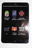 Fly FlyLife Connect 7,85 3G Slim сенсор черный с рамкой, фото 1