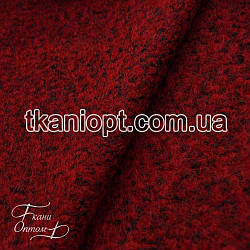 Ткань Пальтовая ткань шерсть букле  (вишневый)