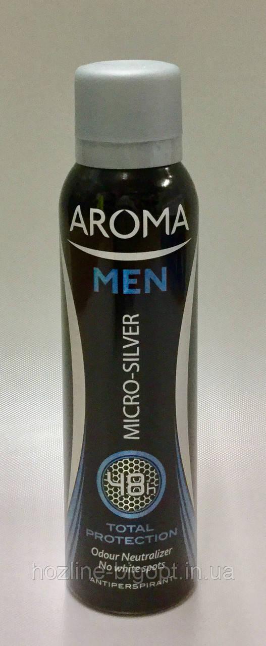 AROMA MEN TOTAL PROTECTION Чоловічий Дезодорант-Антиперспірант 150 мл.