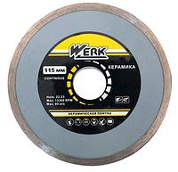 Алмазный диск Werk по керамике 1A1R WE110120 (115х5x22.225 мм)