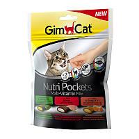 Gimсat Nutri Pockets для кошек, Мультивитамин микс, 150г