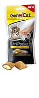 Gimсat Nutri Pockets для кошек, Сыр+Таурин, 60г