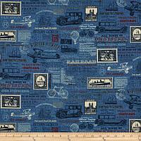 """Ткань для пэчворка и рукоделия американский хлопок """"Travel"""" - 24*55 см"""