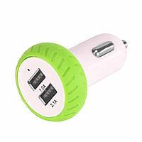 Автомобильная зарядка на 2 USB порта! Универсальное зарядное устройство для авто! 2,1А