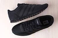 Мужские кроссовки, текстильные, черные, на шнурках