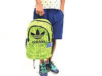 Спортивный рюкзак Adidas, цвет - лимонный, материал - полиестер с водоотталкивающей пропиткой