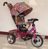 Велосипед детский 3-х колёсный TILLY Trike T-344-2 EVA-Колеса МАЛИНОВЫЙ