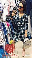 Один из хитов сезона🐱🐱🐱 #481 Платье рубашка Ткань: х/б полотно Натуральный состав На пуговицах,инкрустирова