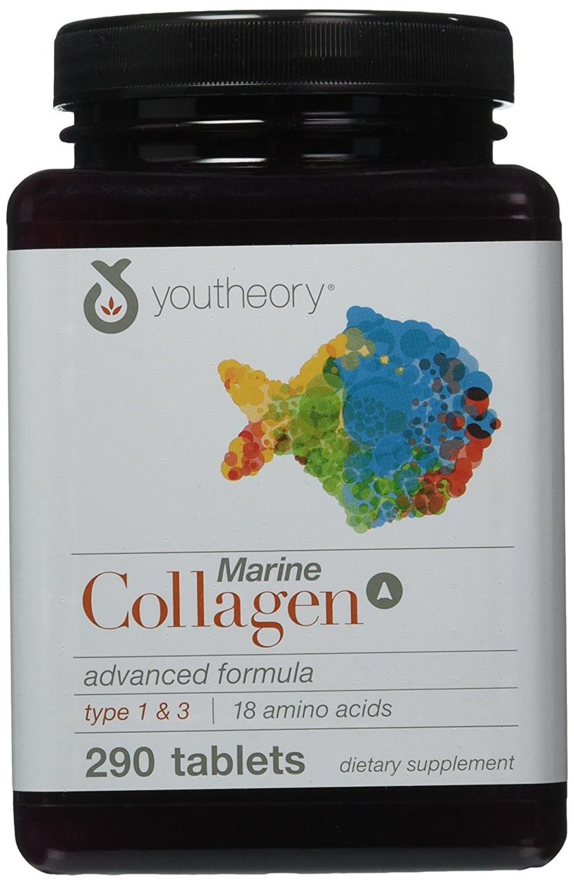 Морской коллаген Youtheory, Улучшенная формула, 290 таблеток, фото 1