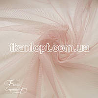 Ткань Сетка стрейч (пудра)