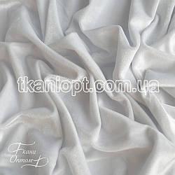 Ткань Стрейч бархат (белый)