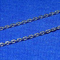 Серебряная цепь с алмазной гранью Якорь 55 см 90102106044, фото 1