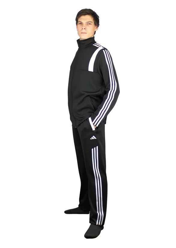 трикотажные спортивные брюки в мужском спортивном костюме - фото teens.ua