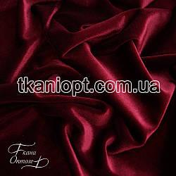 Ткань Стрейч бархат (бордовый)