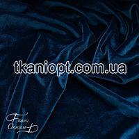 Ткань Стрейч бархат (морская волна)