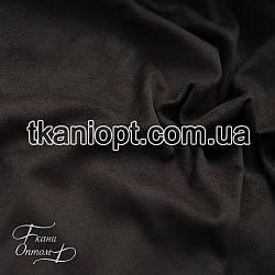 Ткань Стрейч замша тонкий (черный)