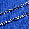 Серебряная цепь Якорное плетение с огранкой 50 см 90102110044