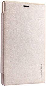 Кожаный чехол (книжка) Nillkin Sparkle Series для Nokia X2 Золотой