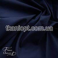Ткань Стрейч поплин (темно-синий)