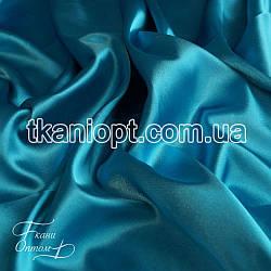 Ткань Стрейч тафта атлас (голубой)