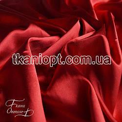 Ткань Стрейч тафта атлас (красный)